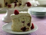 Raspberry Angel Food Cake for Bake Together