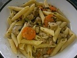 Penne with Chicken and White Wine Sauce