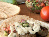 Beef Kofta with Tzatziki and Cucumber Tomato Relish #WeekdaySupper
