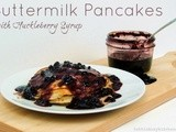 Buttermilk Pancakes with Huckleberry Syrup