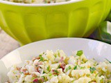 Cauliflower and Bacon Salad with Mustard Herb Vinaigrette