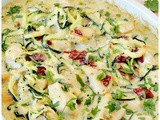 Chicken Alfredo Zoodle Bake