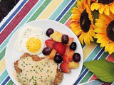 Chicken Fried Steak and Eggs #SundaySupper