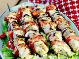 Chicken Kabobs with Greek Salad