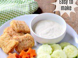 Chicken Nuggets with Fun Veggies | Easy After School Snacking