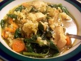 Chicken Soup with Brown Rice and Spinach