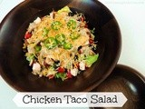 Chicken Taco Salad with Cilantro Lime Dressing