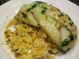 Cilantro Lime Cod with Sherry Vinegar Reduction