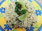 Cilantro Rice with Lime and Serrano
