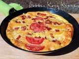 Garden Fresh Tomato and Bacon Frittata {Using t-fal's Non-stick Skillet}