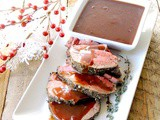 Herbed Beef Tenderloin with Port Wine and Cranberry Sauce #SundaySupper #RoastPerfect