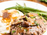 Keto Salisbury Steaks with Mushroom Gravy