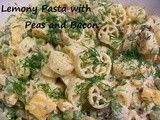 Lemony Pasta Salad with Peas and Bacon