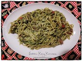 Linguine with Chicken, Tomatoes and Spinach Pesto for the #SurpriseRecipeSwap