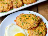 Low-Carb Cheesy Cauliflower Hash Browns