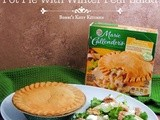Marie Callender's Pot Pie and Winter Pear Salad