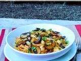 Pumpkin Alfredo with Roasted Garlic and Mushrooms