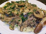 Rachael Ray Wednesday - Chicken with Wild Mushrooms and Balsamic Cream Sauce