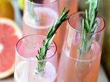 Rosemary Pink Grapefruit Mimosas