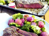 Sheet Pan Steak with Broccoli and Radishes