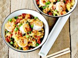 Shrimp and Bacon Cauliflower Fried Rice