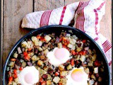 Skillet Steak and Eggs Hash