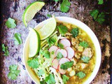 Slow Cooker Green Chile Pork Posole