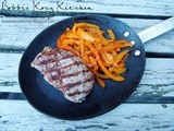 Spicy Grilled Pork Chops and Peppers