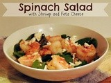 Spinach Salad with Shrimp and Feta Cheese