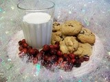 White Chocolate Chip Cookies with Rum Soaked Craisins