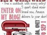 Win a 5 Quart Kitchenaid Artisan Stand Mixer Plus a Free e-Cookbook #giveaway