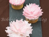 Create Sugar and Brush Embroidery Peony Cupcakes