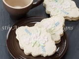 Enchanting Brush Embroidery Sugar Cookie Plaque
