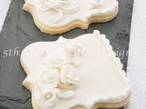 White on White Over-Piped Sugar Cookies