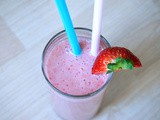 Strawberry-Banana Hazelnut Milkshake