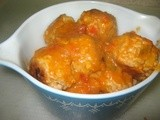 Passover Turkey Meatballs in Carrot Sauce