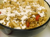 Penne with Tomatoes, Feta and Balsamic Dressing