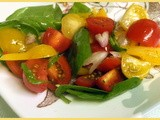 Yellow Pear and Cherry Tomato Salad
