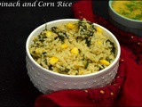 Spinach and Corn Rice
