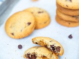 Chocolate chip cookies met karamel