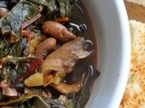 Zimino di fagioli / bean, mushroom and chard soup