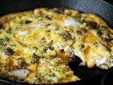 Monday Goodness: Sage Sausage and Duck Egg Frittata