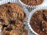 Banana butternut and choc chip muffins