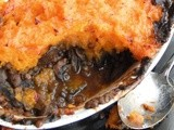 Easy mushroom, lentil and butternut squash bake