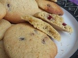 Lemon, ginger and cranberry gluten free cookies