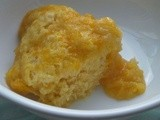 Quick microwave orange pudding, gluten and dairy free