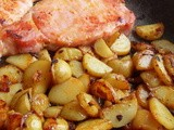 Bacon Chops and Fried Potatoes Bacon Chops and Fried Potatoes