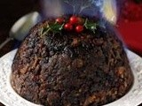 English ale-soaked Christmas pudding