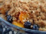 How to make Oaty Peach & Blueberry Crumble  Recipe