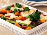 How To Make Roasted Vegetables With Halloumi